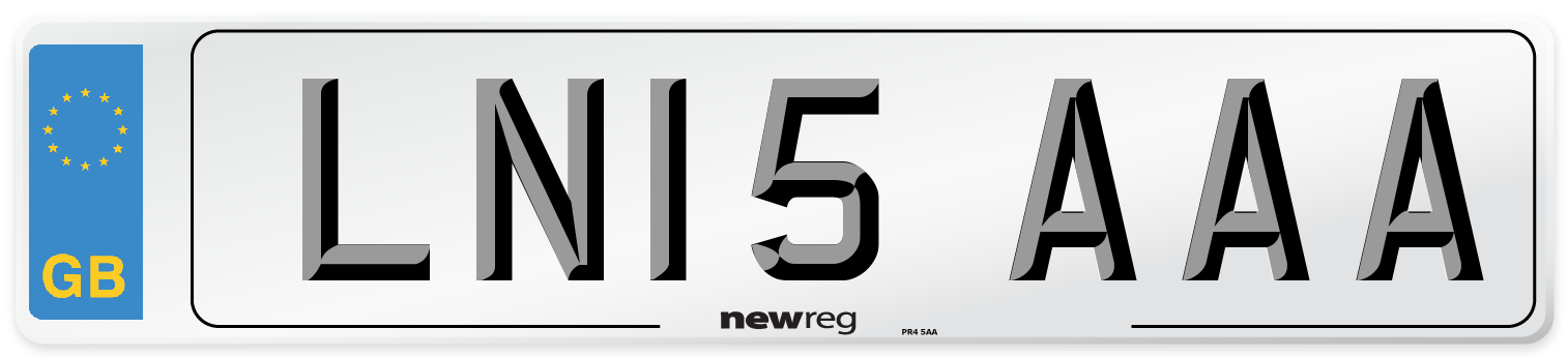 LN15 AAA Number Plate from New Reg
