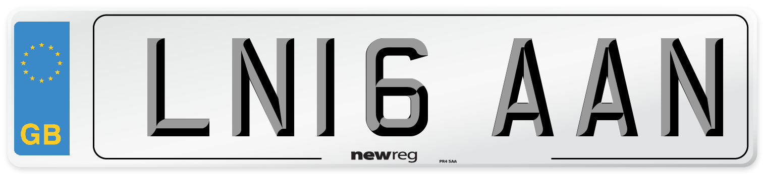 LN16 AAN Number Plate from New Reg