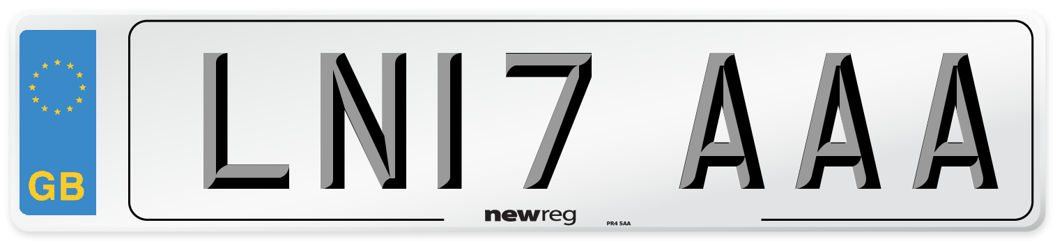 LN17 AAA Number Plate from New Reg