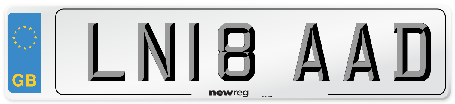 LN18 AAD Number Plate from New Reg
