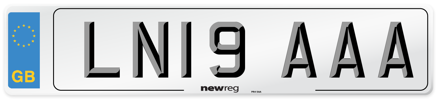 LN19 AAA Number Plate from New Reg