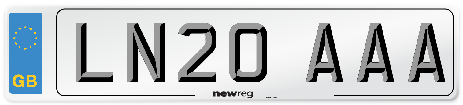 LN20 AAA Number Plate from New Reg