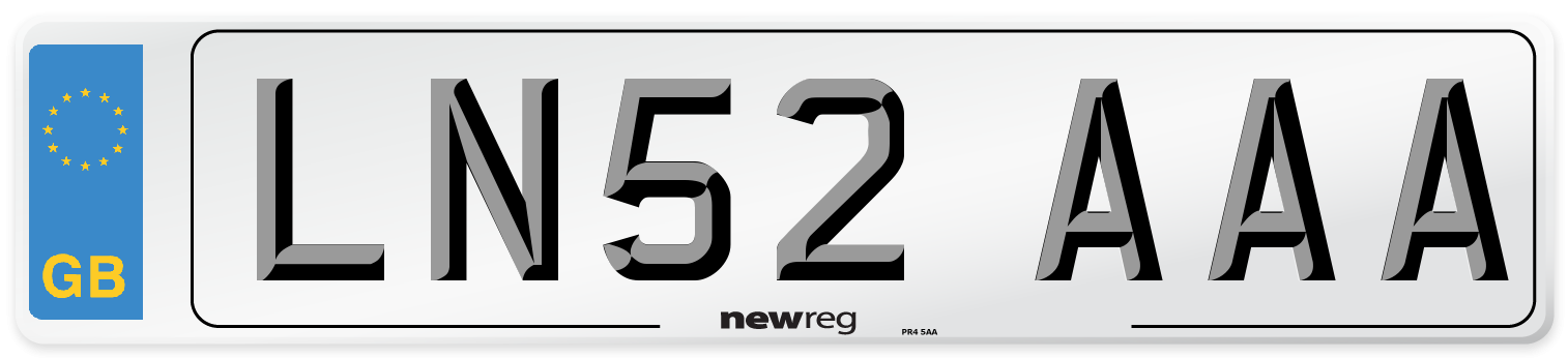 LN52 AAA Number Plate from New Reg