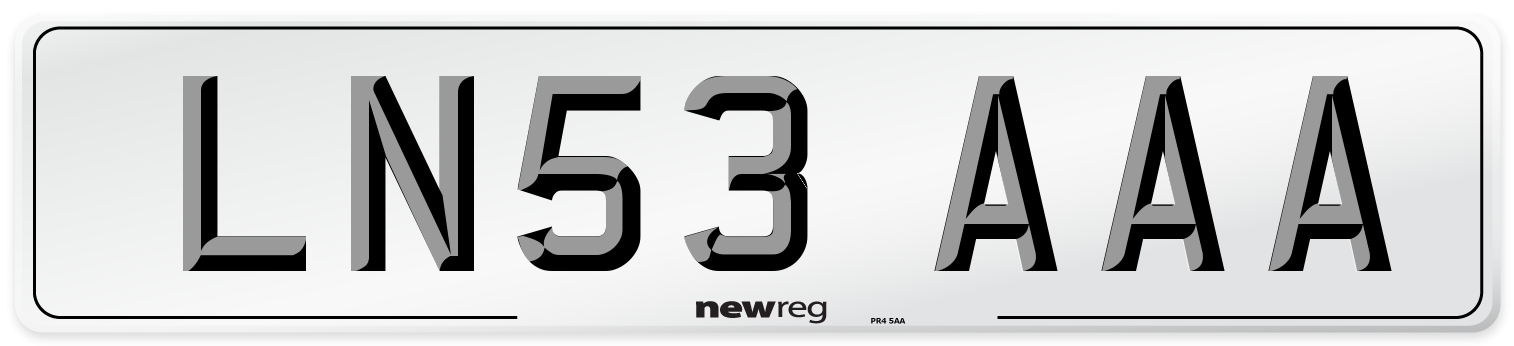 LN53 AAA Number Plate from New Reg