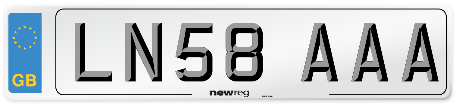 LN58 AAA Number Plate from New Reg