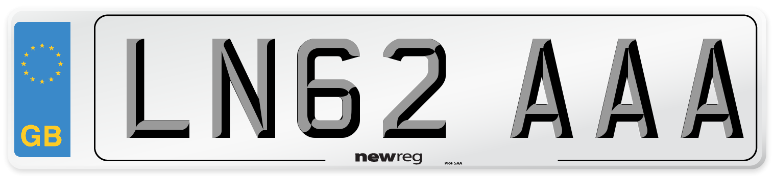 LN62 AAA Number Plate from New Reg