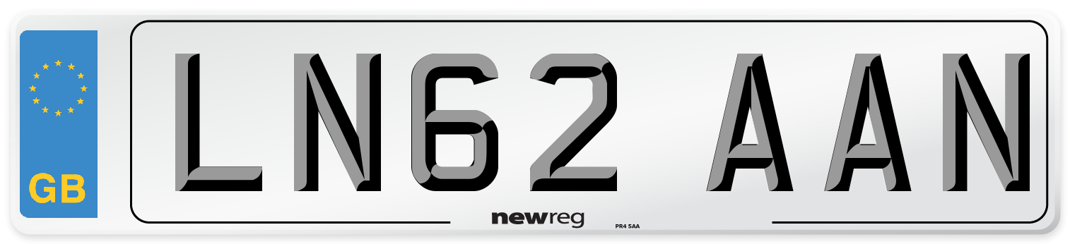 LN62 AAN Number Plate from New Reg