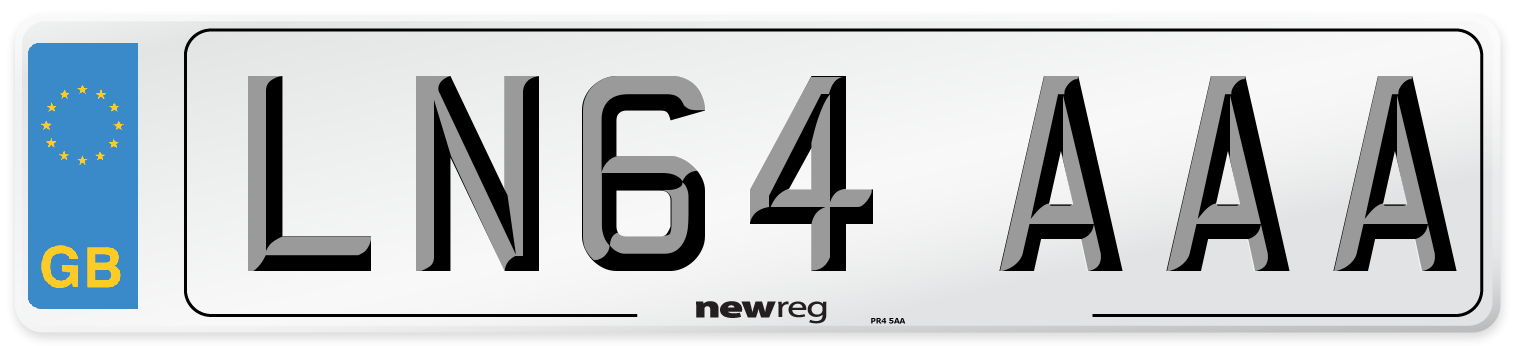 LN64 AAA Number Plate from New Reg