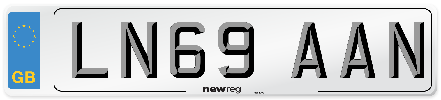 LN69 AAN Number Plate from New Reg
