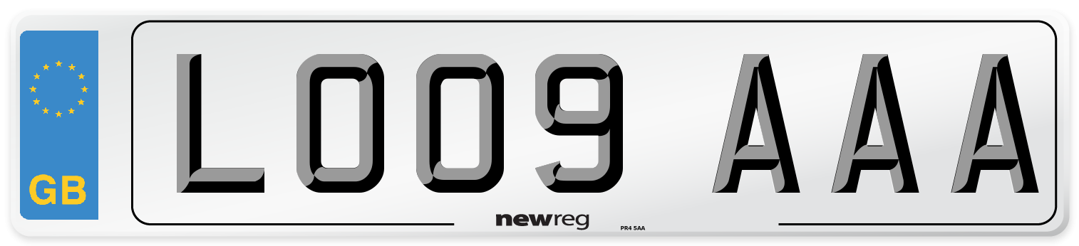 LO09 AAA Number Plate from New Reg