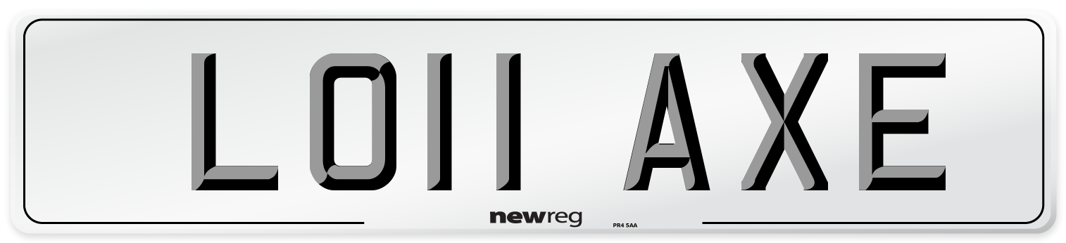 LO11 AXE Number Plate from New Reg