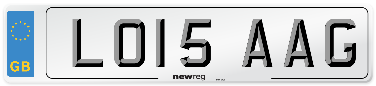 LO15 AAG Number Plate from New Reg