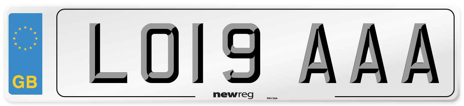 LO19 AAA Number Plate from New Reg