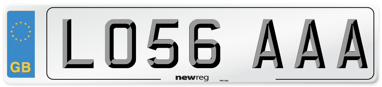 LO56 AAA Number Plate from New Reg
