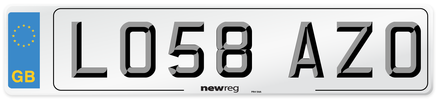 LO58 AZO Number Plate from New Reg