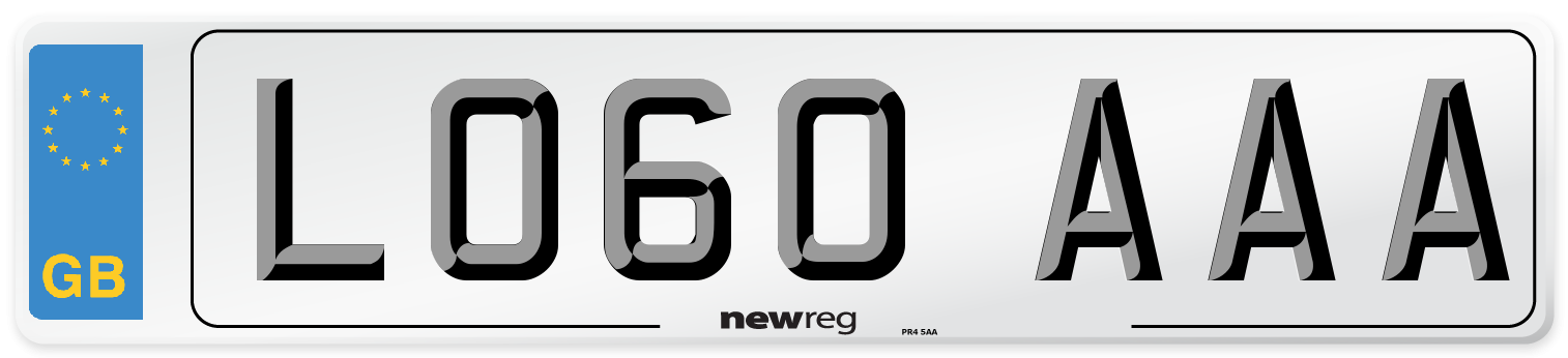 LO60 AAA Number Plate from New Reg