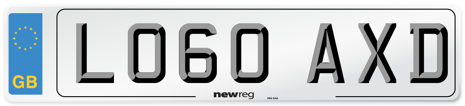 LO60 AXD Number Plate from New Reg