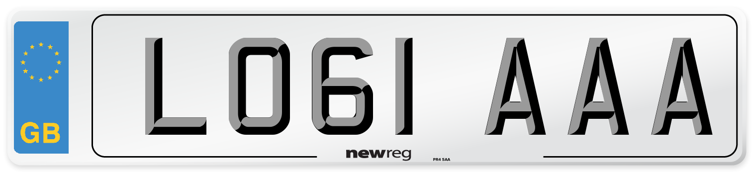 LO61 AAA Number Plate from New Reg