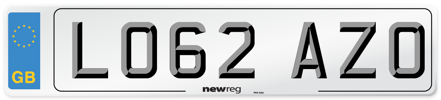 LO62 AZO Number Plate from New Reg