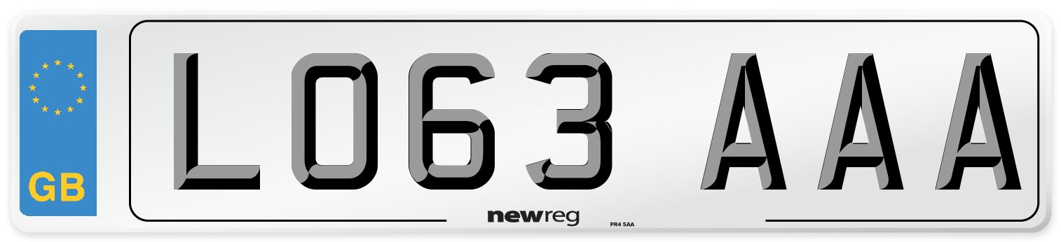 LO63 AAA Number Plate from New Reg