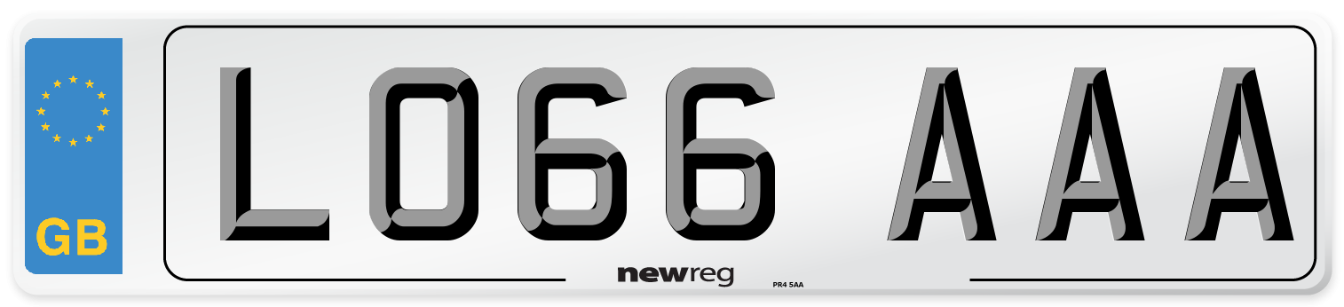 LO66 AAA Number Plate from New Reg