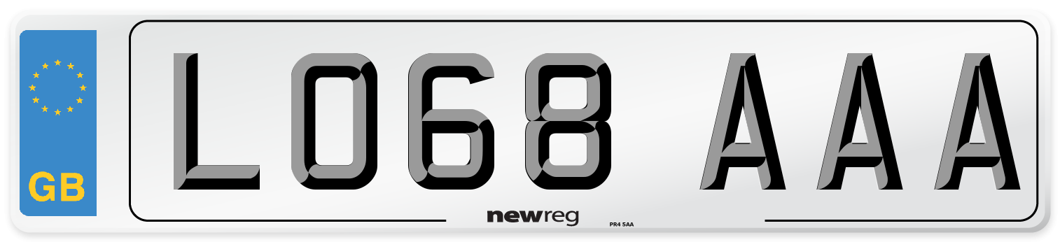 LO68 AAA Number Plate from New Reg