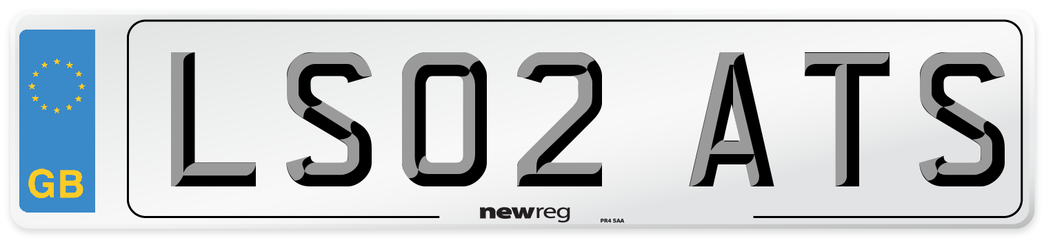 LS02 ATS Number Plate from New Reg