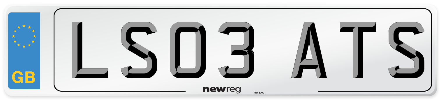 LS03 ATS Number Plate from New Reg