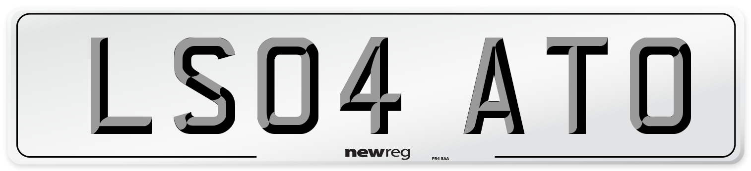 LS04 ATO Number Plate from New Reg