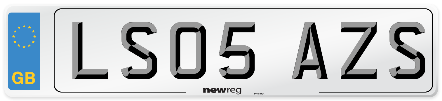 LS05 AZS Number Plate from New Reg