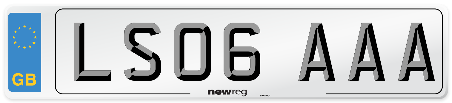 LS06 AAA Number Plate from New Reg