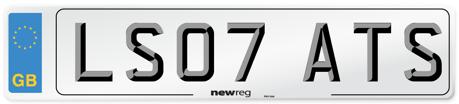 LS07 ATS Number Plate from New Reg