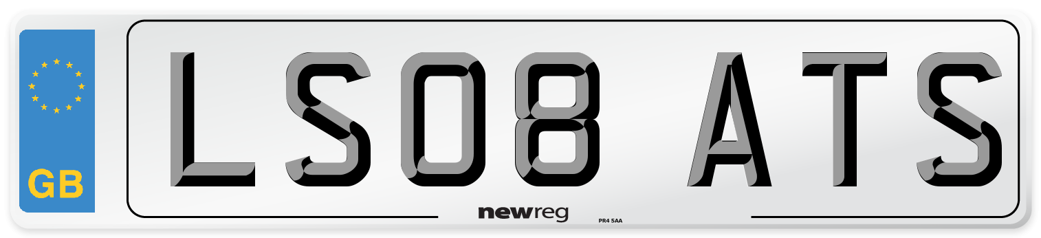 LS08 ATS Number Plate from New Reg