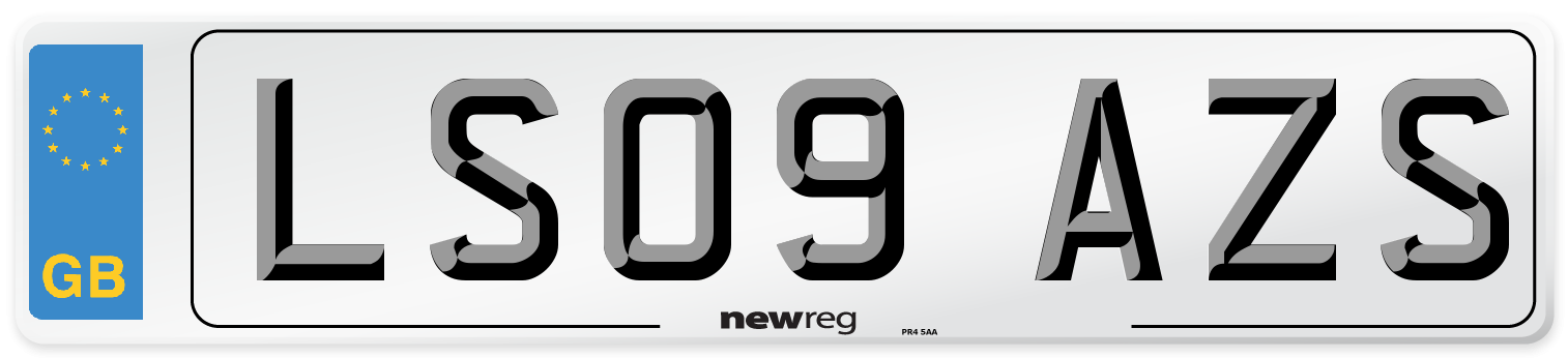 LS09 AZS Number Plate from New Reg