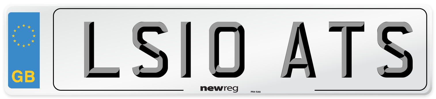 LS10 ATS Number Plate from New Reg