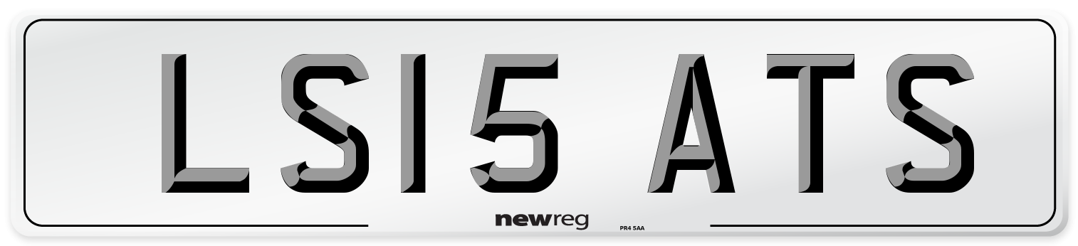 LS15 ATS Number Plate from New Reg