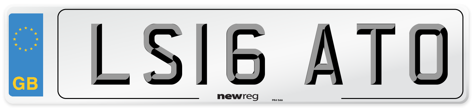 LS16 ATO Number Plate from New Reg