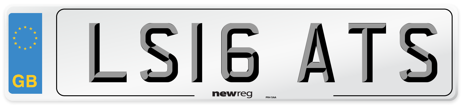 LS16 ATS Number Plate from New Reg
