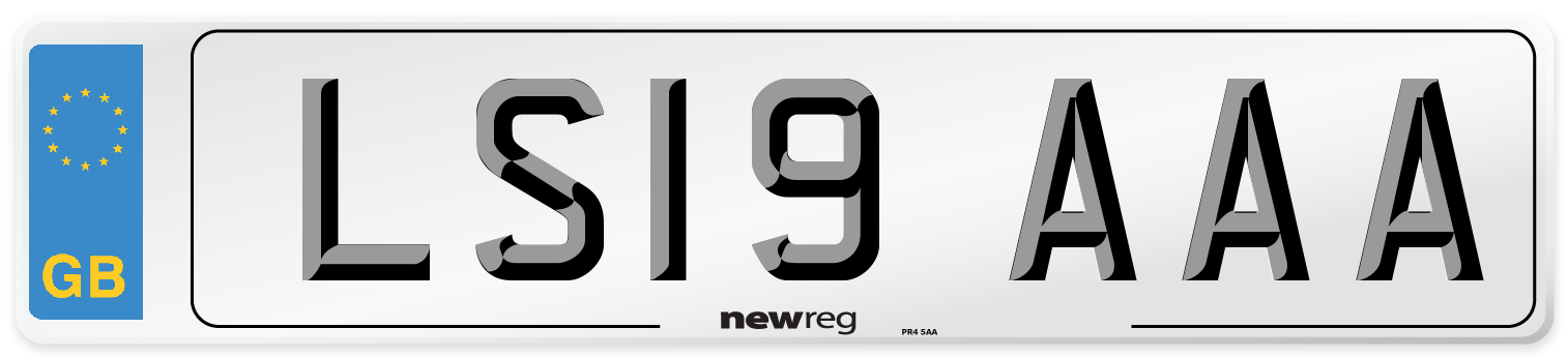 LS19 AAA Number Plate from New Reg