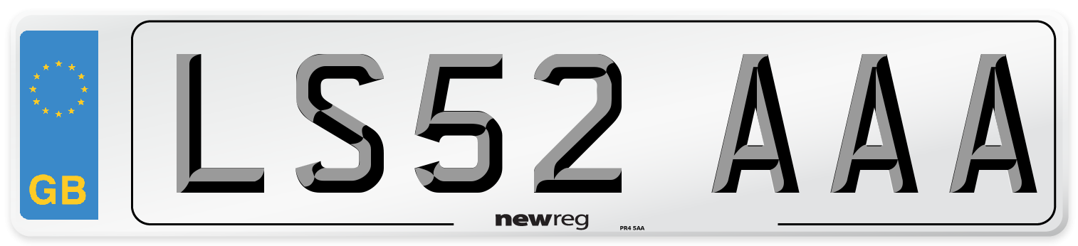LS52 AAA Number Plate from New Reg