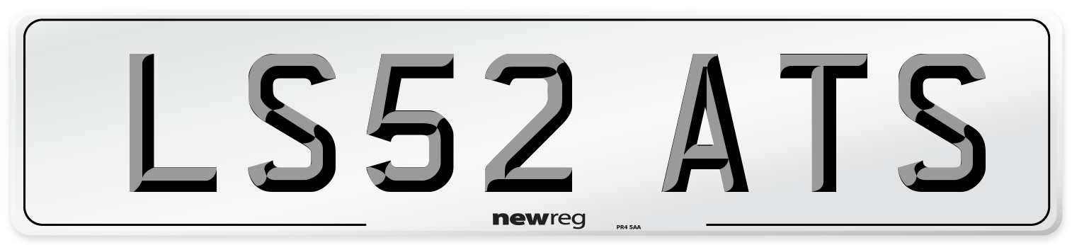 LS52 ATS Number Plate from New Reg