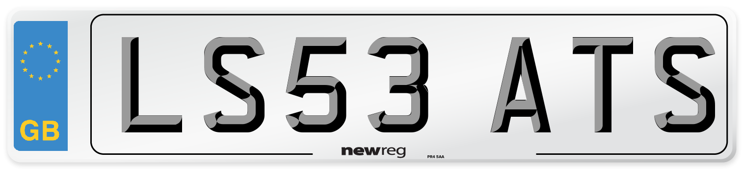 LS53 ATS Number Plate from New Reg