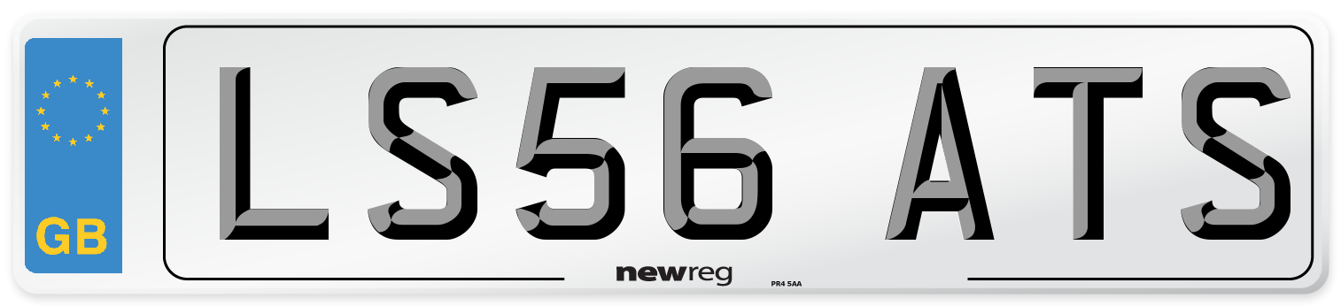 LS56 ATS Number Plate from New Reg