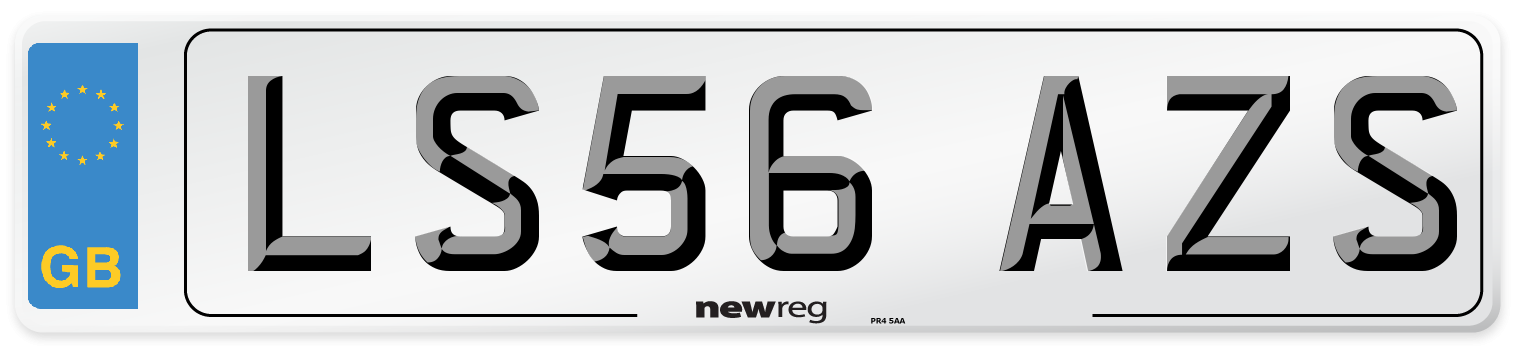 LS56 AZS Number Plate from New Reg