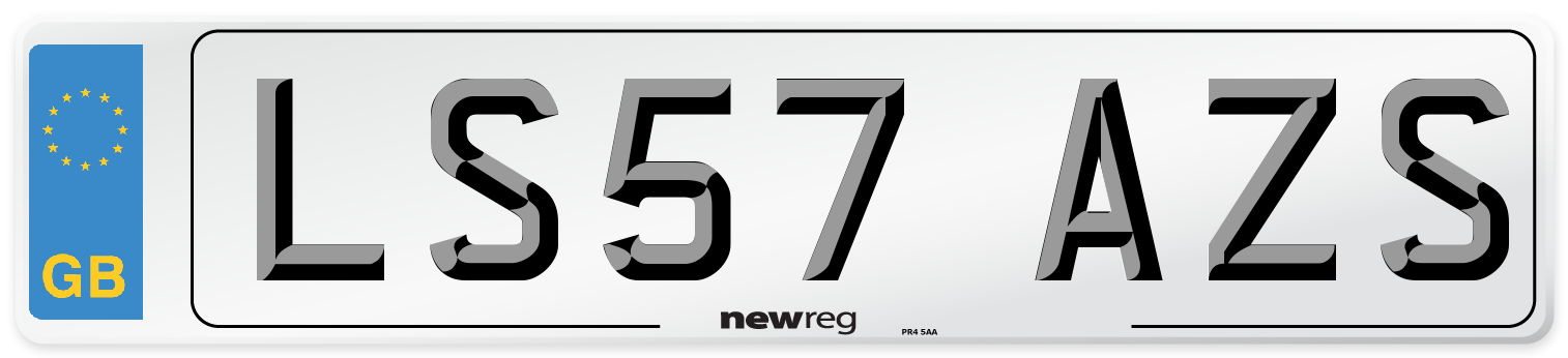 LS57 AZS Number Plate from New Reg