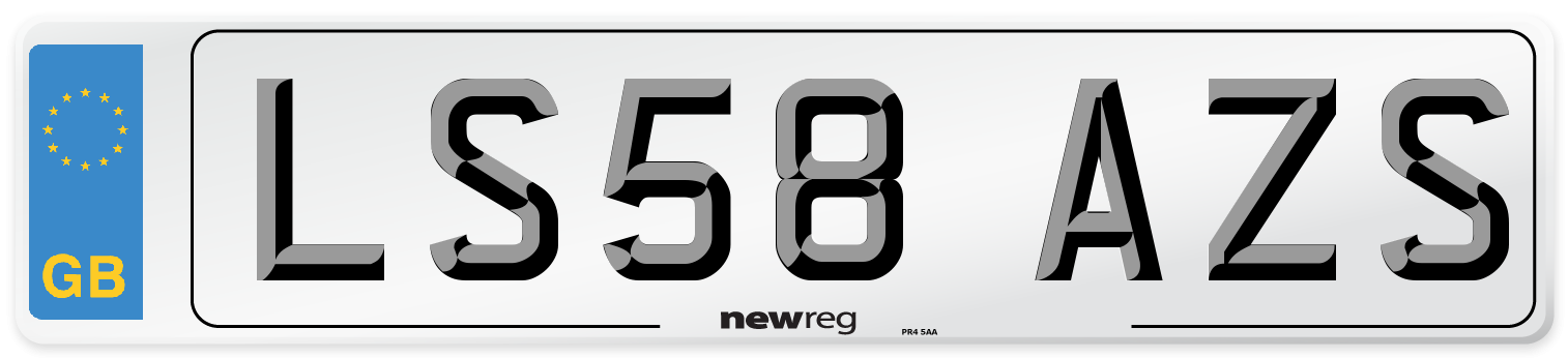 LS58 AZS Number Plate from New Reg