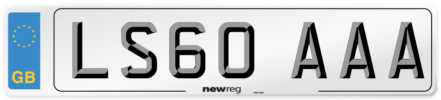 LS60 AAA Number Plate from New Reg