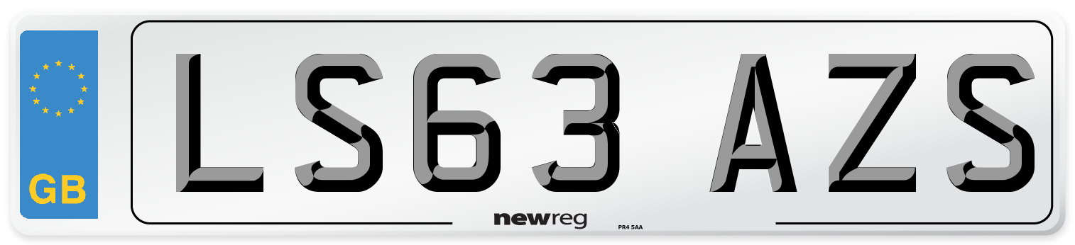 LS63 AZS Number Plate from New Reg