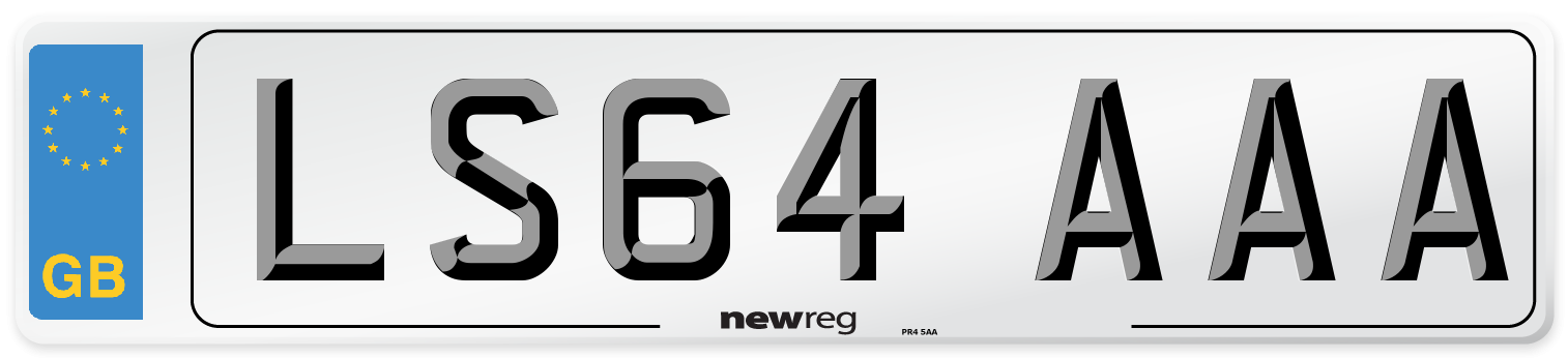 LS64 AAA Number Plate from New Reg