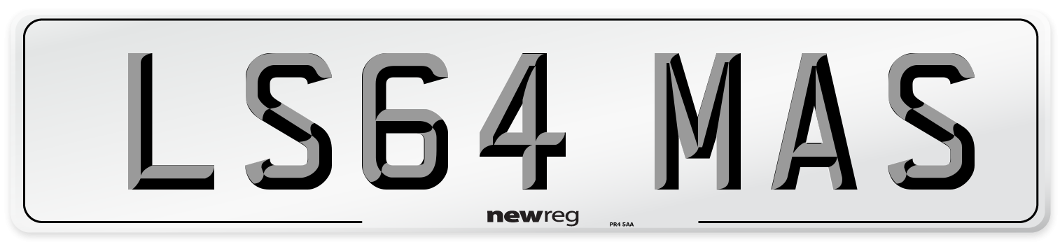 LS64 MAS Number Plate from New Reg